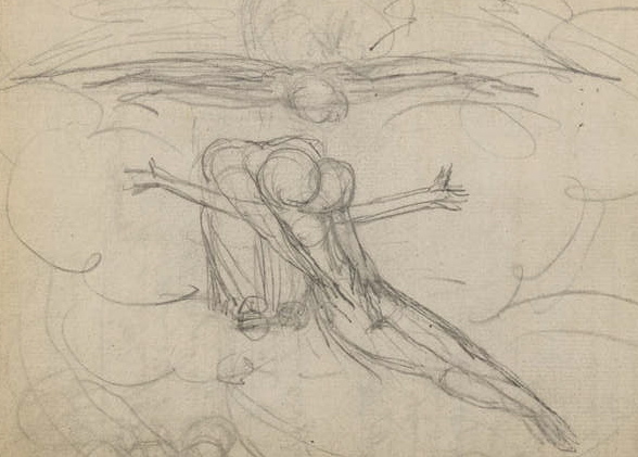 William Blake's sketch of the Trinity