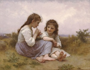 william-adolphe-bouguereau-a-childhood-idyll-1900