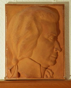 A portrait of Mozart in Barth's house