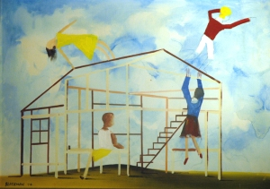 Charles Blackman, 'Children Playing' (1974)