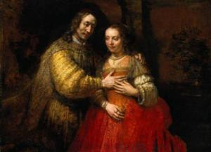 Rembrandt, 'The Jewish Bride'. Rijksmuseum, Amsterdam