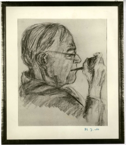 Karl Barth, drawing