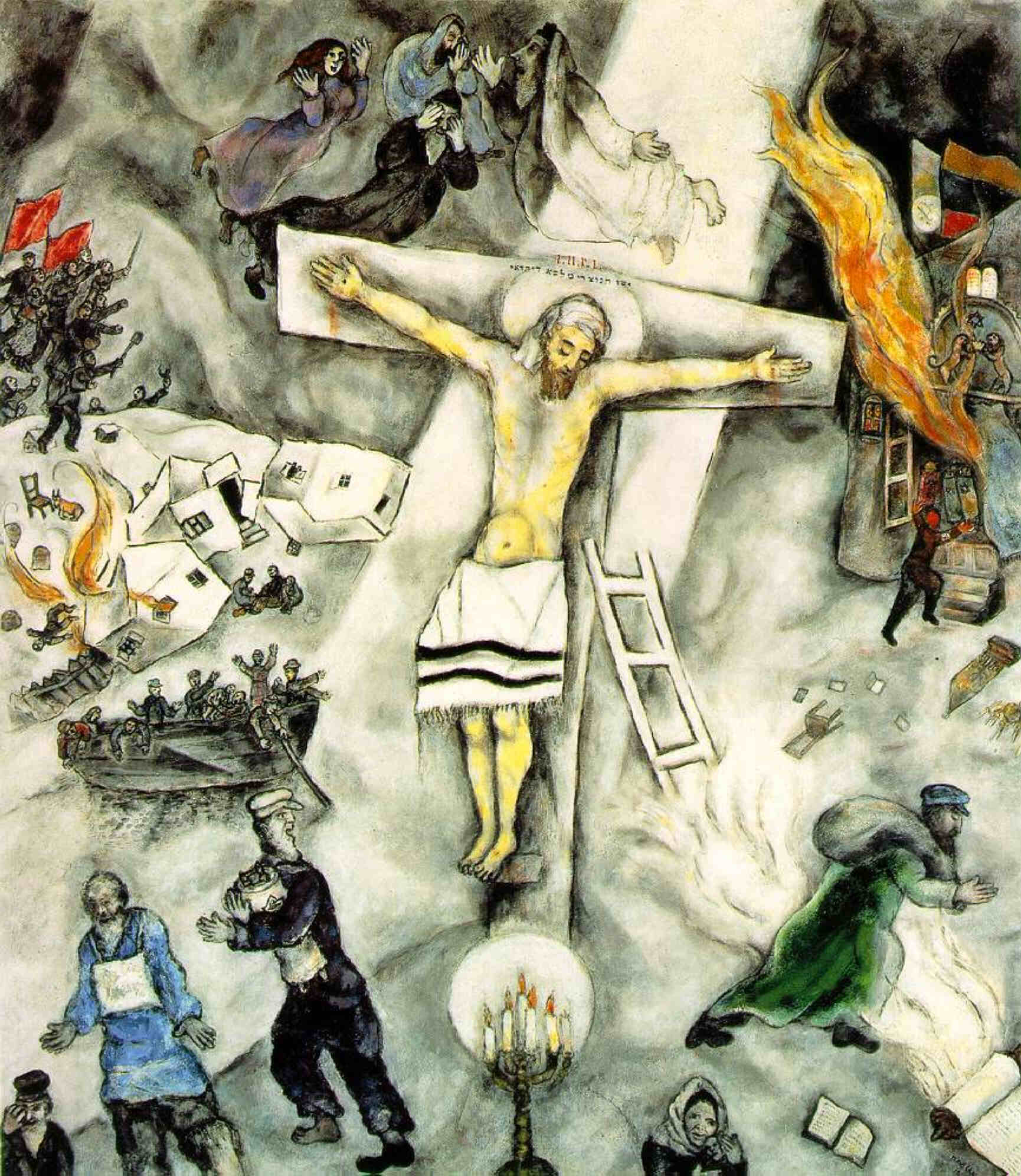 """The White Crucifixion"" Chagall Crucifixion"