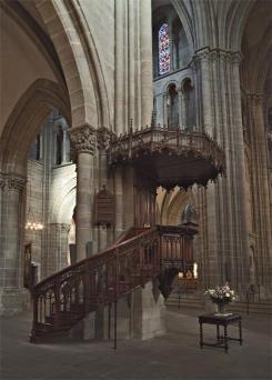 Púlpito de Calvino en la Catedral de San Pedro