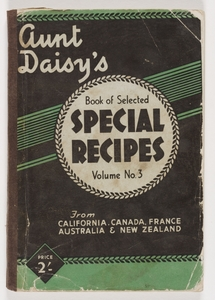 Aunt Daisy's Book of Selected Special Recipes