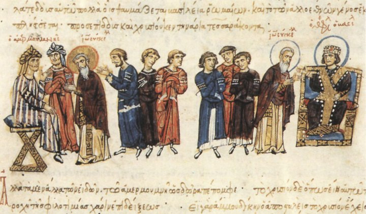 John_the_Grammarian_as_ambassador_before_Theophilos_and_Mamun