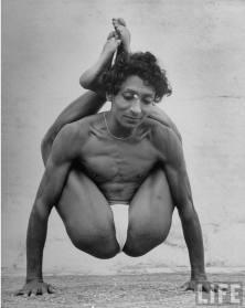 Indian Man Practicing Yoga - May 1949