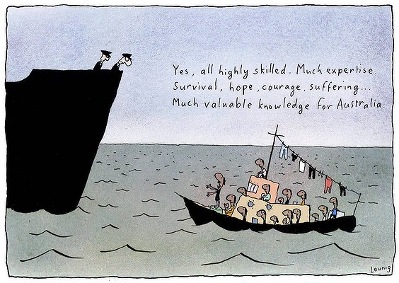 Leunig - Refugees
