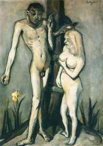 Max Beckmann - Adam and Eve, 1917