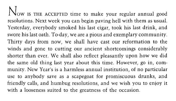 Mark Twain on New Year's resolutions
