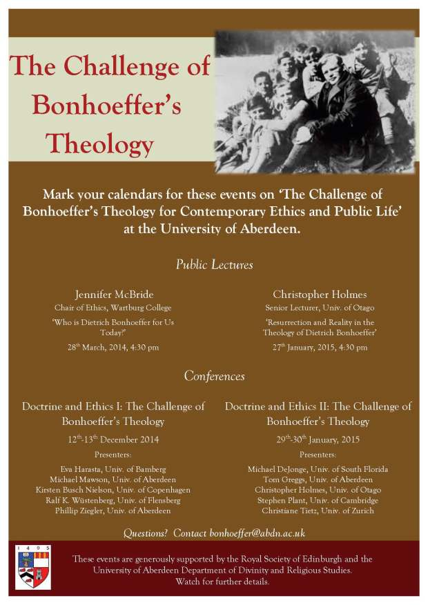 Bonhoeffer Events Aberdeen (2)
