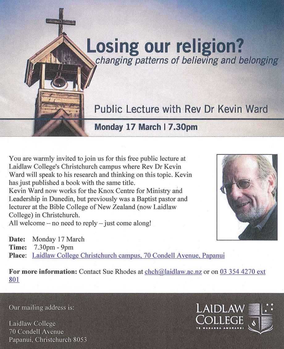 Laidlaw lecture