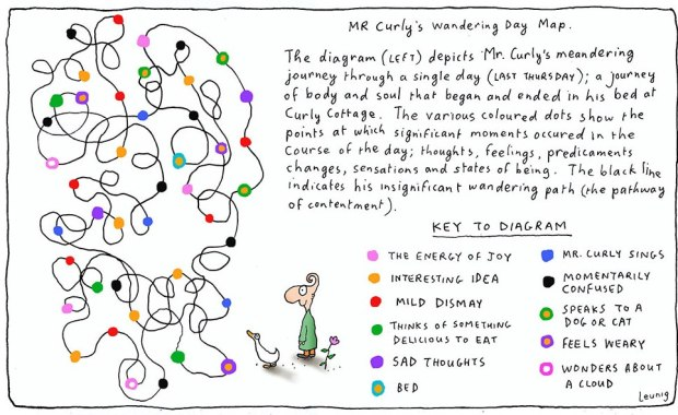 Mr Curly's Wandering Day Map 1-Mar2014