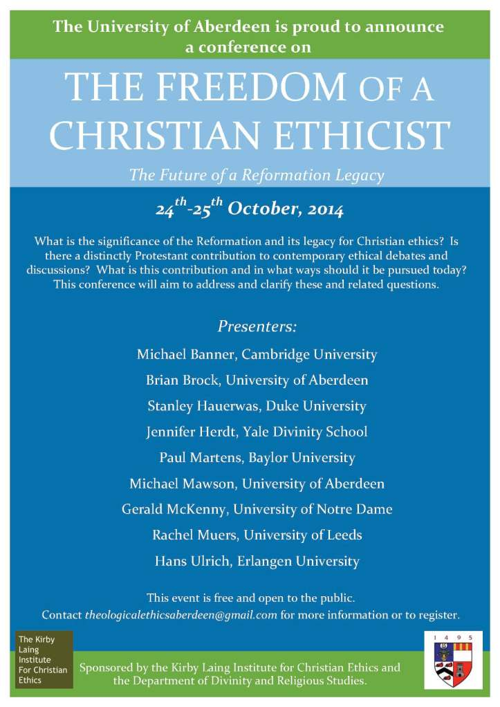 Theological Ethics Conference Aberdeen
