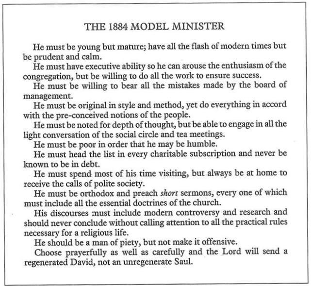 The 1884 Model Minister