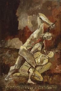 Pete Cramblit, 'Cain slaying Abel'