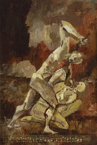Pete Cramblit, 'Cain slaying Abel'