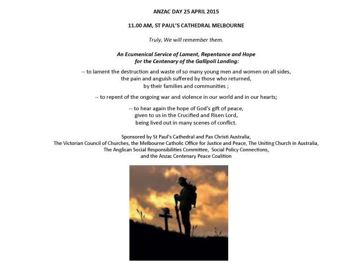 ANZAC Day service INVITE2015