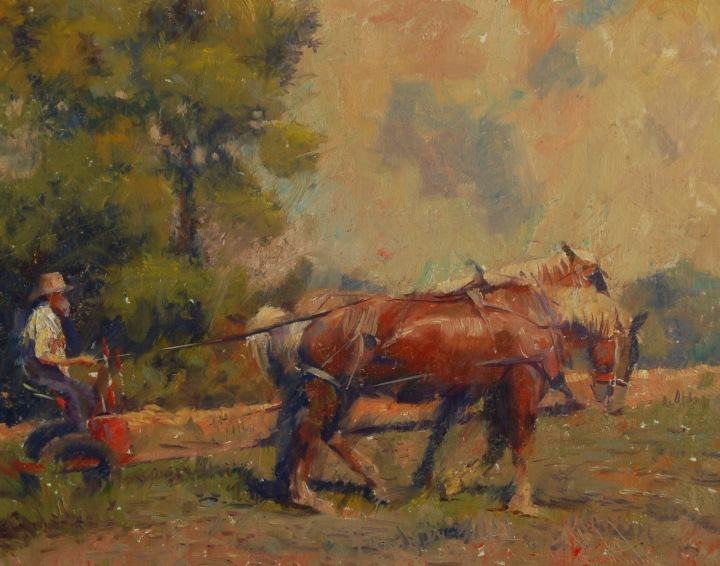 Charles Warren Mundy, 'Raking The Fields', 2011.