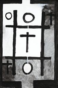 McCahon - NOUGHTS AND CROSSES, SERIES 2, NO. 2, 1976