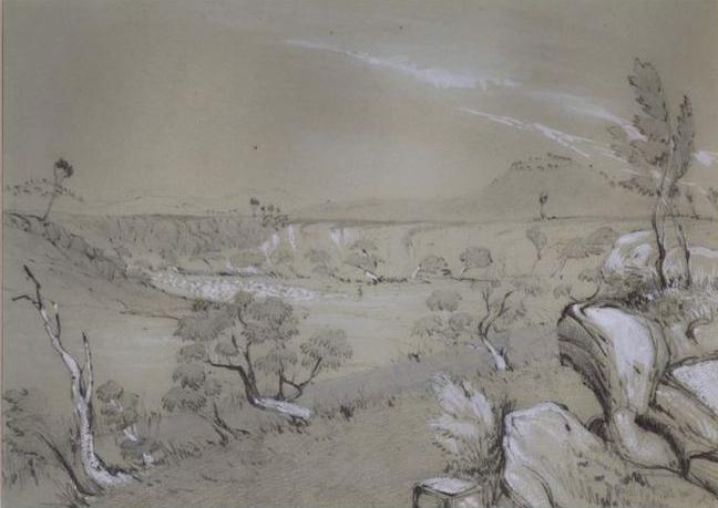 George Gilbert, Maribyrnong River (c. 1850)