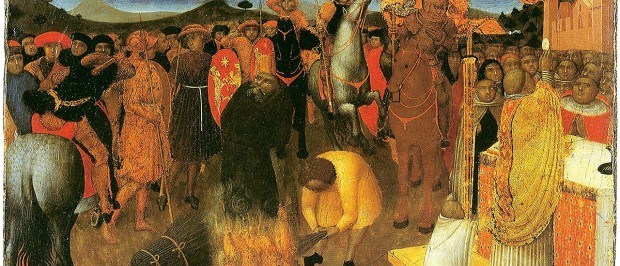Stefano di Giovanni - Burning of a heretic (1430-32)