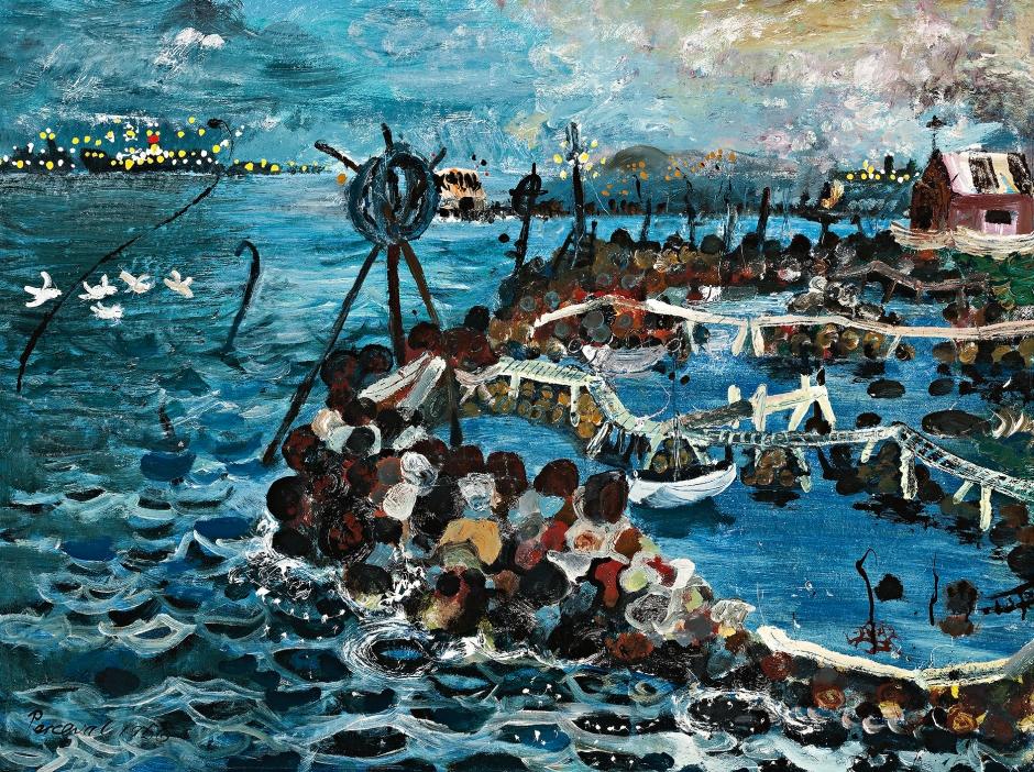 John Perceval - Fisherman's Sights, Williamstown, 1956.jpg